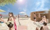 Strandpark og strandbar