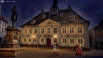 Julelys på det gamle rådhus